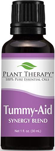 Plant Therapy Tummy Aid Synergy Essential Oil Blend. 100% Pure, Undiluted, Therapeutic Grade. Blend of: Dill Weed and Sweet Fennel. 30 ml (1 oz).