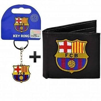 FC Barcelona (sintética) cartera de piel y llavero Set de ...