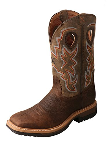 Twisted X Men's Lite Cowboy Work Boot Alloy Toe Taupe 8 D