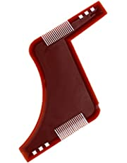 Men's Beard Shaping Styling Shapes Template Comb Mens Beards Combs Beauty Tool for Hair Beard Trim Templates-Brown