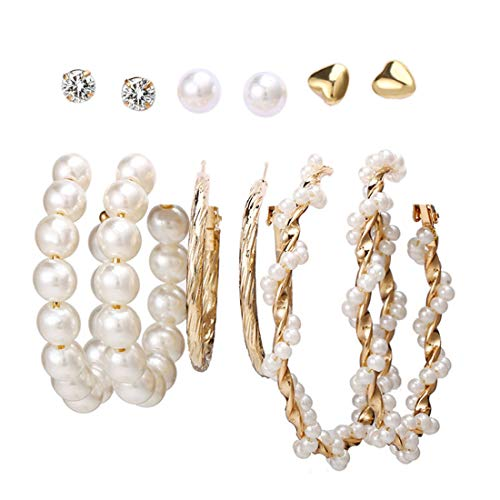 Jewels Galaxy Brass Pearl Earrings For Women
