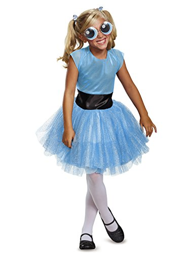 Bubbles Tutu Deluxe Costume, Blue, Small (4-6X)]()