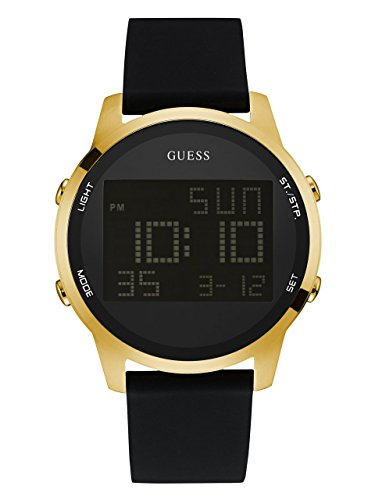 GUESS Women's Stainless Steel Digital Silicone Watch, Color: Black (Model: U0787G1)