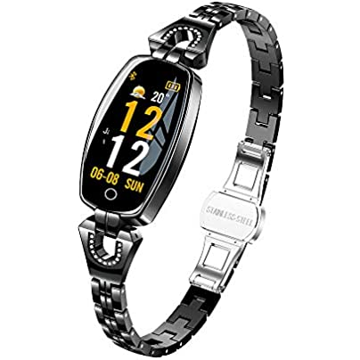 LDQLSQ Fitness Tracker Fitness Wristband Smart Bracelet Color Screen Weather Forecast Waterproof Heart Rate Blood Pressure Health Test Female Bracelet Estimated Price £63.24 -