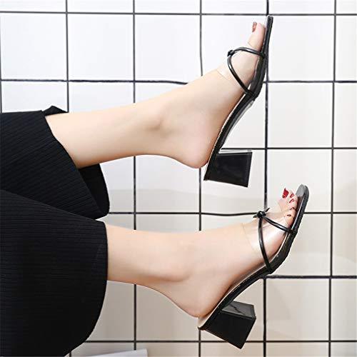 YUCH Sandales Transparent Et Chaussons Black Femme PqrwPx6F