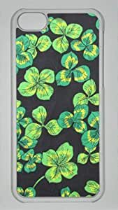 Diy iPhone 6 plus Good Luck Green Flower DIY Hard Shell TransparentIphone 6 plus Perfect By Custom Service
