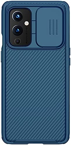 Nillkin Case for OnePlus 9 One Plus 9 (1+9) (6.55″ Inch) CamShield Pro Slider Camera Close & Open Double Layered Protection TPU + PC Blue Color