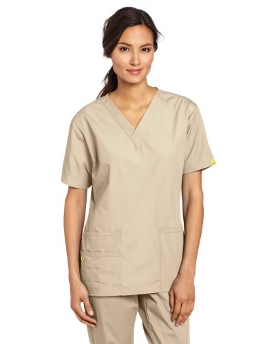WonderWink Womens Scrubs 5 Pocket V Neck