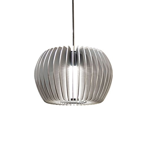 WAC Lighting MP-LED315-PT/CH Uber LED Pendant Fixture with Chrome Canopy, One Size, Platinum