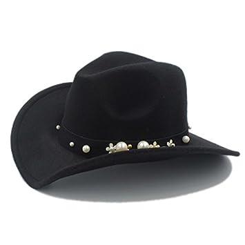 b6b5ff8c132a3 Fashion hat LEI ZE JUN UK- Fashion Women Chapeu Western Cowboy Hat For  Elegant lady
