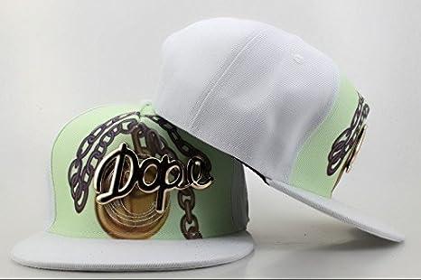 Hip Hop ajustable DOPE Snapback metal logo Colorful Gorra de ...