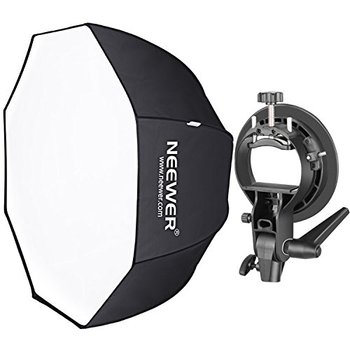 Neewer 32 inches/80 centimeters Octagonal Softbox with S-Type Bracket Holder (with Bowens Mount) and Carrying Bag for Speedlite Studio Flash Monolight, Portrait and Product Photography Bowens Reflector Kit
