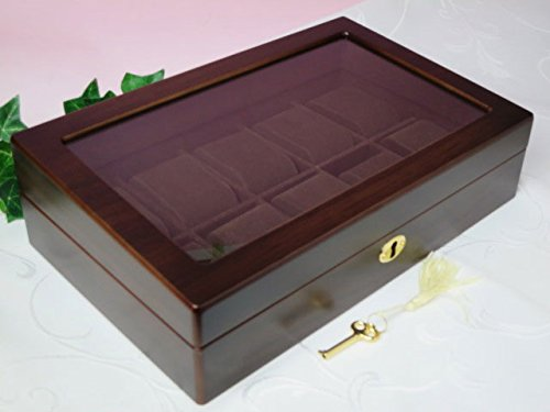 ウォッチケース 木製 10本用 (コレクションケース 腕時計用) B00SKPPF70