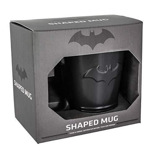 Paladone Batman Shaped Ceramic Coffee Mug - DC Comics Embossed -