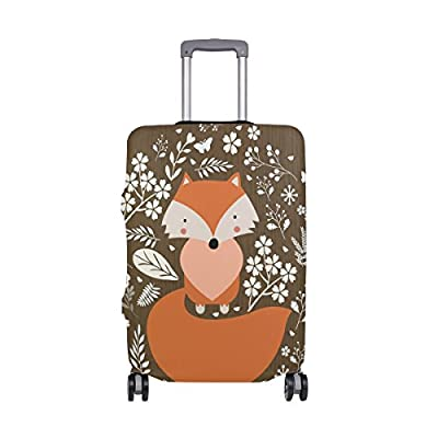 hot sale ALAZA Beautiful Fox Elastic Travel Suitcase Protector Luggage Cover Spandex Print Design Fits 18-20 Inch S(COVER ONLY)