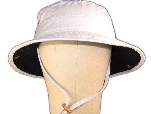 childs-upf-50-boonie-style-sun-hat-with-contrast-underbrim-c868-putty-black-size-2-6