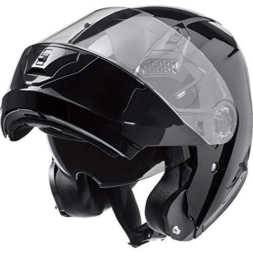 Nexo Klapphelm Motorradhelm Helm Motorrad Mopedhelm Basic II, Thermoplasthelm mit Sonnenblende, klares, kratzfestes…