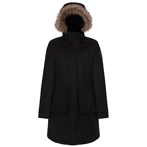 Regatta Womens/Ladies lumexia acolchada chaqueta impermeable para mujer medias negro