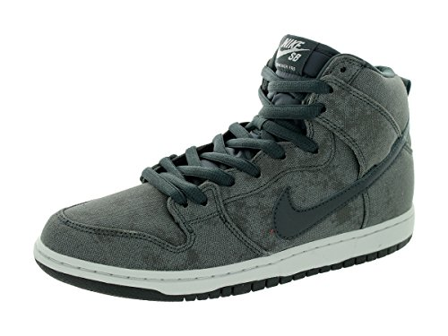 Nike Men's Dunk High Pro SB Neutral Grey/Anthracite/Anthracite Skate Shoe 9.5 Men US