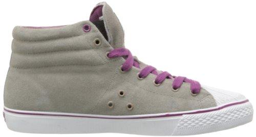 Vision Street Wear Damen Wildleder Hi Sneaker Grau / Lila
