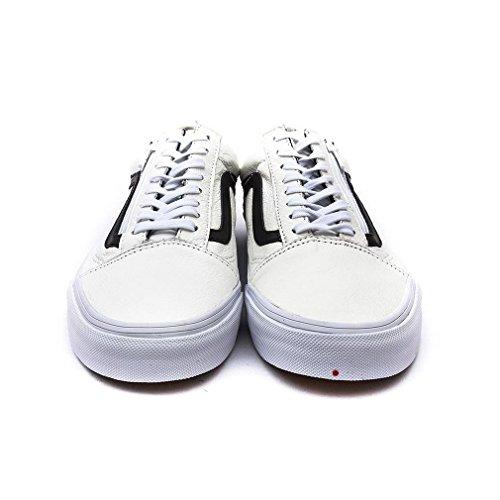 Vans U Old Skool Zip Leather, Unisex-Erwachsene Sneakers (premium leather) true wh