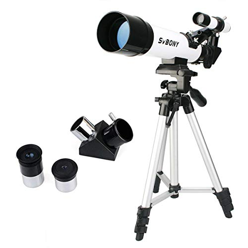 SVBONY SV25 Kids Telescope for Beginner Adult 60mm Travel Scope with Tripod Eyepiece Finder Scope