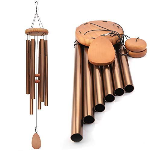 Noble House Wind Chimes with Big Deep Tone,42″ Tuned Wind Chimes, Both Indoor Decor and Outdoor Decor in Your Garden,Porch, Backyard and Patio (Bronze)