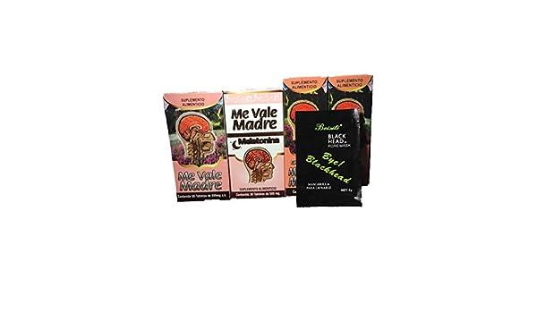 Amazon.com: Me Vale Madre 60 Cap y Me vale Madre Melatonina 60 Cap, Mas 2 Extractos Me vale Madre Headache Migraine & Stress, Dolor De Cabeza,estres ...