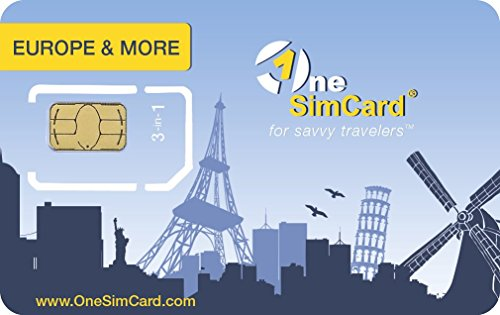 - OneSimCard Europe & More Triple SIM Card Pre-Loaded with $5.00 of airtime, Free Incoming Calls and Outgoing International Calls from $0.25 per Minute.