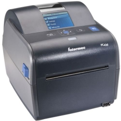 """Intermec PC43D Monochrome Desktop Direct Thermal Printer with Icon-graphics Display and Americas Power Cord, 8 in/s Print Speed, 203 dpi Resolution, 4.10"""" Print Width, 24 VDC"""