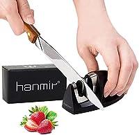hanmir Afilador Cuchillos Profesional Afilador Cuchillos de Cocina de 2 Etapas