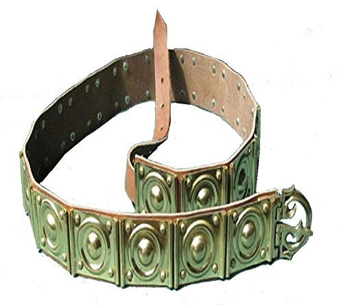 MEDIEVAL GREEK ROMAN LEGIONNAIRE BELT/Leather and Solid Brass/ARMOUR