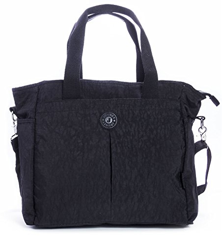 épaule BHBS Tout en Fourre Sac à 3 36x32x17 cm Grand Shopping LxHxP Femmes Tissu Noir Main Compartiment B8Apq8x7wr