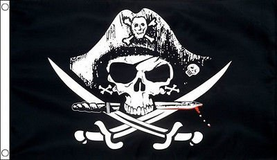 5' x 3' Black Crossed Sabres Pirate Party (Sabre Pirate)