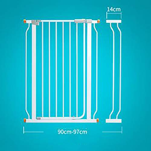 Price comparison product image Hty Child Safety Door Stair Railing pet Fence Dog Fence Isolation Door Free Punching encryption White Heightening Door Width 76-83cm high 103cm (Size : 90-97cm)
