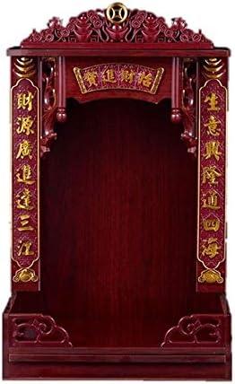 """仏教儀式壁キャビネット 17.3"""" は、仏祭壇銅像ホーム祭壇内閣仏祭壇シェルフはホーム寺、場所に適してあなたの精神的な装飾をラック木製ウォールスタンド 儀式の記事、"""