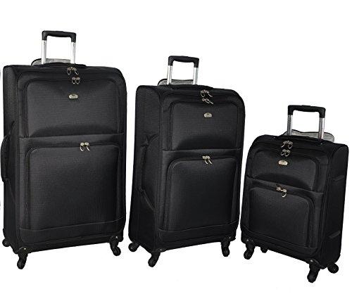 Aerolite Juego de maletas, negro (Negro) – AERO9970 BLACK 21/29 2 PCS
