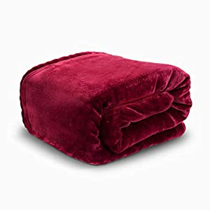 HYSEAS Velvet Plush Throw, Home Fleece Throw Blanket from HYSEAS