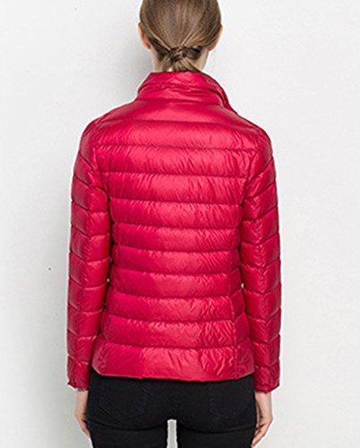 Mujeres Invierno Delgada Slim Down Abrigo Capa de la Chaqueta Rosso