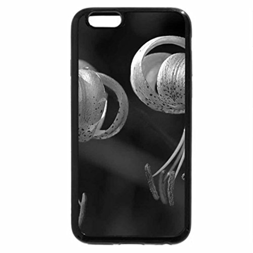 iPhone 6S Plus Case, iPhone 6 Plus Case (Black & White) - Hanging Lily