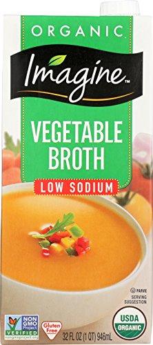 Imagine Organic Vegetable Broth, Low Sodium, 32 oz