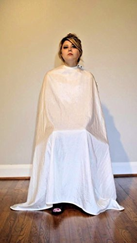 TrendingTools2 Large Size White Salon Cape with Snaps by TrendingTools2 Hair Supply