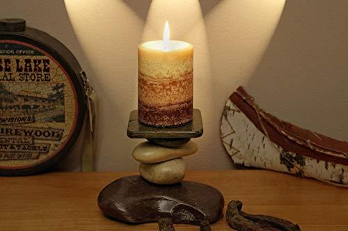 The Tamarack Lodge Stone Candle Holder