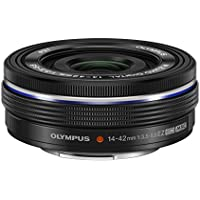 Olympus 14-42mm f3.5-5.6 EZ Interchangeable Lens for Olympus/Panasonic Micro 4/3 Digital Camera (Black)  - International Version (No Warranty)