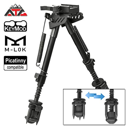 ATG PVC Patch and NcSTAR 3-in-1 KeyMod Bipod/M-LOK Bipod/Picatinny (Best Inch Bipods)