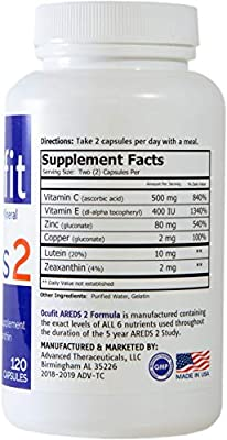 Ocufit AREDS 2 Formula Eye Vitamin & Mineral Supplement (220/CT) Free Shipping
