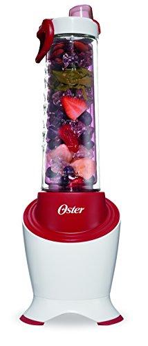 - Oster MyBlend Pro Series Personal Blender with Condensation Free Bottle, Travel Clip and 4 Reusable Straws, Red, BLSTPB2-WRD