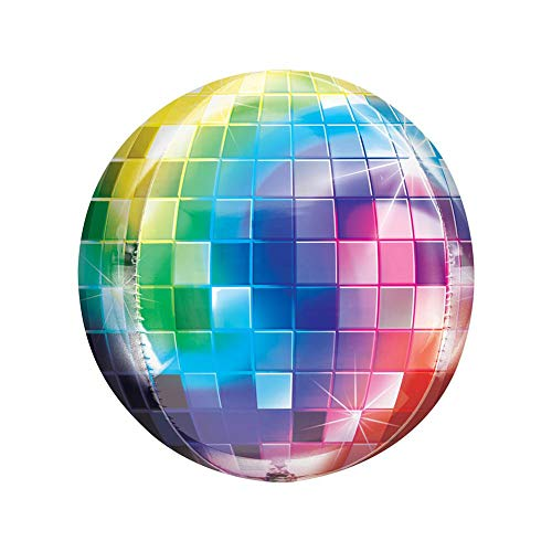 20pcs 4D Disco Metalic Balloons,22 inch Rainbow Gradient Laser Foil Disco Ball Balloons Wedding Celebration 80s 90s Retro Popular Party Decor -