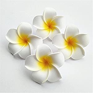 100 Pcs Diameter 3.5 Inch Artificial Plumeria Hawaiian Foam Flower For Wedding Party Home Decoration 26