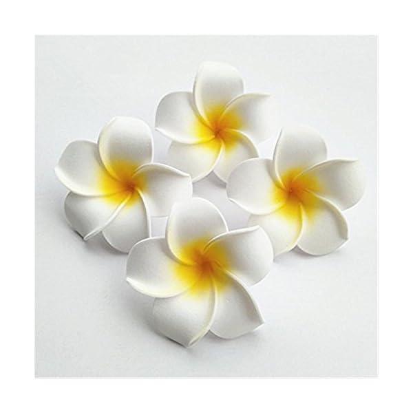 100-Pcs-Diameter-35-Inch-Artificial-Plumeria-Hawaiian-Foam-Flower-For-Wedding-Party-Home-Decoration